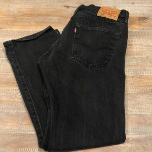 Levi's 501 Jeans Black 5 button up fly 33 x 30